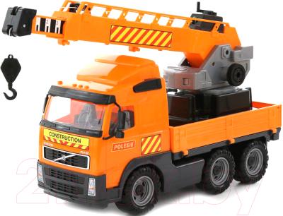 Автомобиль игрушечный Полесье Volvo с поворотной платформой / 8824