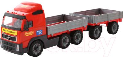 Автомобиль игрушечный Полесье Volvo бортовой с прицепом / 9487