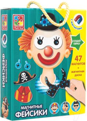 Развивающая игра Vladi Toys Магнитная одевашка. Фейсики / VT3702-09