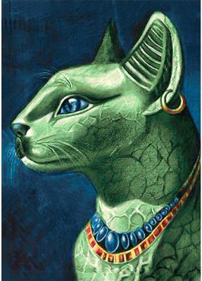 Набор алмазной вышивки Wizardi Изумрудная кошка / WD141