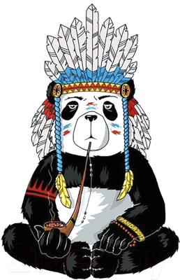 Набор алмазной вышивки Wizardi Хиппи панда / WD216