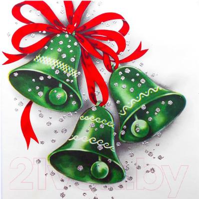 Набор алмазной вышивки Wizardi Зеленые колокольчики / WD2445