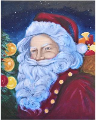 Набор алмазной вышивки Wizardi Санта Клаус / WD2463