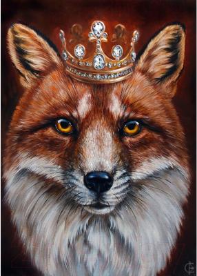 Набор алмазной вышивки Wizardi Король лис / WD2467