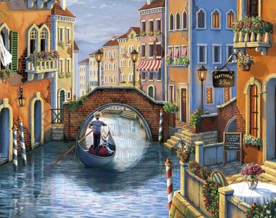 Набор алмазной вышивки Wizardi Романтика в Венеции / WD2484