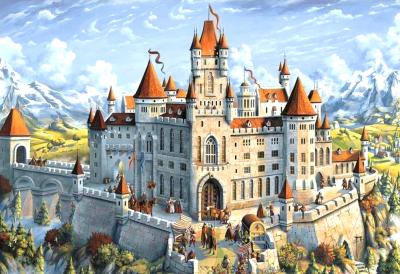 Набор алмазной вышивки Wizardi Волшебный замок / WD2489
