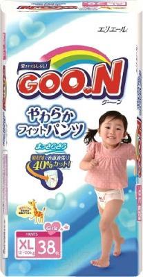 Подгузники-трусики детские Goo.N Girl XL 12-20кг